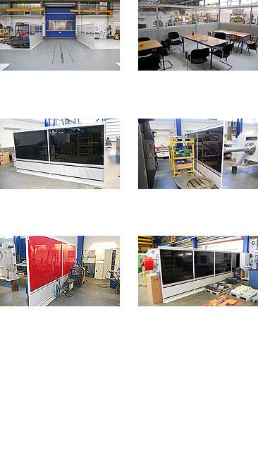 Schleischutz Trennwand-Systeme für Industrie & Handwerk - GERZ GmbH